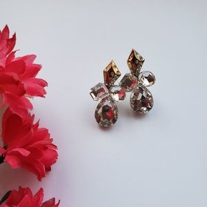 Gorgeous stone stud earrings. Unique style